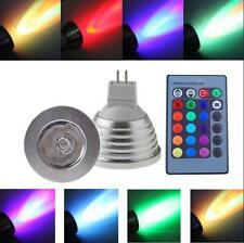 20Pack MR16 3W LED Spot Light Bulbs 16 Color Changing Lamp RGB IR Remote Control