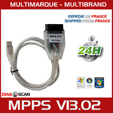 Cable Interface MPPS V13.02 CHIP TUNING FLASH PROGRAMMATION ECU + Pack logiciels