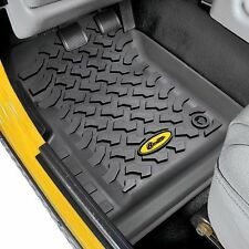 Bestop Front Floor Liner Set 76-95 Jeep CJ-7 & Wrangler YJ 51511-01 Black