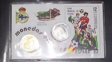 carnet tarjeta estadio RIAZOR, CON 1 - 5 PESETAS - 1980 plastificado