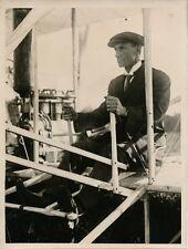 PHOTO PRESSE 1933 - Anniversaire Exploits Wilbur WRIGHT Aviateur Le Mans