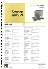 Philips Original Service Manual für 22 GF 503