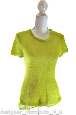 The Limited light pistachio green crew Sweater sexy mohair pullover top size L