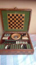 Grande scatola da gioco da viaggio vintage anni 50