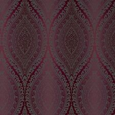 Grandeco Wallpaper - Luxury Kismet Damask / Glittered - Metallic Plum - A17705