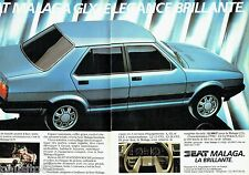 PUBLICITE ADVERTISING 116  1985  la Seat  Malaga GLX ( 2pages)