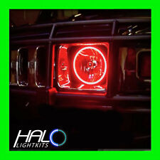 2003-2009 ORACLE HUMMER H2 RED LED Light Headlight Halo Ring Kit 2 Rings