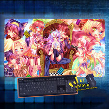 Oversize Big Play Mat Anime NO GAME NO LIFE Shiro Mouse Pad GAME mat Mousepad #R