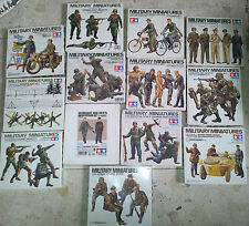 Tamiya   Military Miniatures Figures  1/35 Lot #3   Choose 3 kits  Big Selection