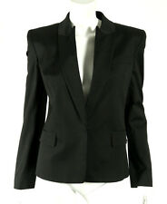 MAISON MARGIELA NWT Black Cotton Twill Inverted Lapel Blazer Jacket 44
