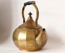 Antique Brass Jugendstil Art Deco Teapot Hand Hammered by WMF c.1910s
