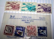 Korea 1952 Stamp- Scott- # C6-C8/AP3-Set-Canc/LH-1952-Air Post 2 SETS LOT 1