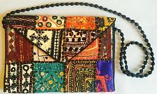 Indian Handmade Damas Cartera Bolso de embrague noche Patchwork Bordado Lentejuelas