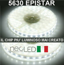 Striscia LED Strip 5630 luce fredda 6000k 5m 300 LED Chip EPISTAR LUMINOSISSIMA!