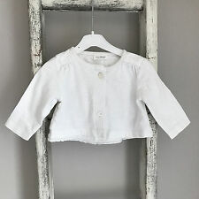 Baby Girl Next Cardigan Size 0-3 Months White Lace Summer Cotton