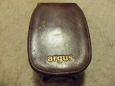 VINTAGE ARGUS LIGHT EXPOSURE METER w/ LEATHER CASE PHOTOGRAPHY #4623