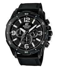 CASIO EFR-538L-1AV EDIFICE Chronograph Leather Strap Black