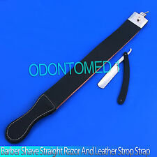 HIGH QUALITY STRAIGHT RAZOR SHAPING STROP SET EXCELLENT