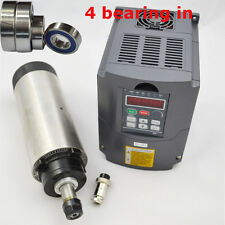 1.5KW AIR-COOLED SPINDLE MOTOR ER16 FOUR BEARING & 220V INVERTER DRIVE VFD CNC