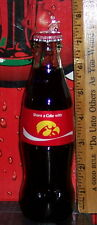 2017 COCA - COLA SHARE A COKE WITH IOWA HAWKEYES  8 OUNCE GLASS COCA COLA BOTTLE