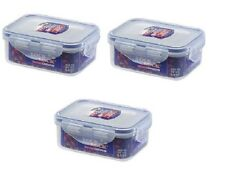 3 x Lock and & Lock Plastic Food Container 350ml HPL806