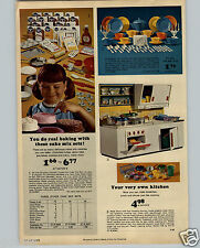 1965 PAPER AD Toy Play Tea Set Solid Color Platic Eaton Doctor Nurse Lits