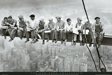 "Men on a Girder POSTER ""New York Collection Friends Workers Over Manhattan"" NEW"