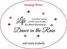 Dance in the Rain Art Wall Stickers Quotes Wall Decals Wall Decorations