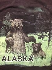 Used Alaska Bear Cub Black Brown Grizzly Outdoors Forest Wilderness  Xl T Shirt