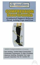 2 Pairs Men's Dr Motion Compression Knee-Hi Socks Black Anti Odor Size 10-13 NEW