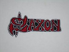 SAXON NWOBHM IRON ON EMBROIDERED PATCH