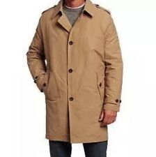Tommy Hilfiger Mens Khaki Trench Coat Rain Jacket w/Removable Liner Medium $275