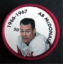1966-1967 NHL Hockey Coin # 50 AB McDonald Detroit Red Wings