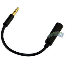 """1/8"""" 3.5mm stereo male plug to female jack adapter converter audio short cable"""