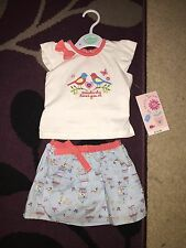 Baby Girl's BABIES R US Top And Skirt Outfit 3-6M BNWT Somebirdy Loves You Birds