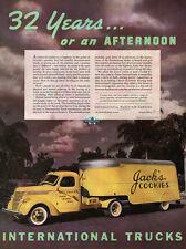 Jack's Cookies Cookie Company Tampa INTERNATIONAL TRUCKS Orlando 1938 Print Ad