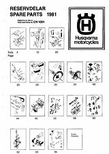 Husqvarna Parts Manual Book 1981 WR 250, CR 250 & XC 250