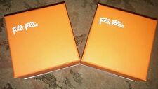 NEW -  FOLLI FOLLIE WATCH CASE BOX - ORANGE/WHITE - $28.00  WITH FREE SHIPPING