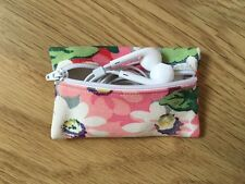 Handmade Cath Kidston Painted Daisy Fabric - Earphone Earbud Case Pouch