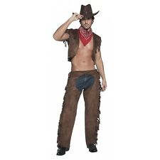 Cowboy Costume Adult Wild West Halloween Fancy Dress