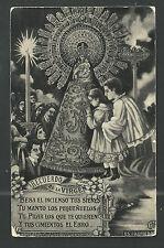 Postal antigua de la Virgen del Pilar andachtsbild santino holy card santini
