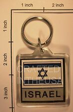 Israel Flag Keychain Plastic Double Sided Key Ring Chain Souvenir Jewish Pride