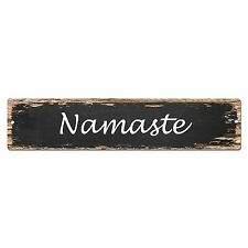 SP0039 Namaste Street Sign Bar Store Shop Cafe Home Kitchen Shabby Chic Decor