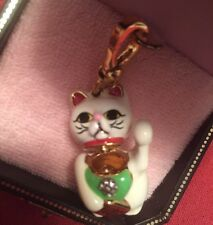 NEW JUICY COUTURE LUCKY CAT CHARM 4 BRACELET NECKLACE BAG KEYCHAIN