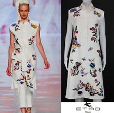 NEW ETRO RUNWAY HEAVY BEADED & EMBROIDERED WHITE DRESS w/BELT 40 - 4