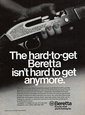 1976 BERETTA A301 Gas Automatic SHOTGUN AD Vintage Firearms Advertising