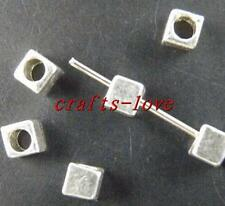 300pcs Tibet Silver Little Cube Bead Spacers 4x4mm 1542