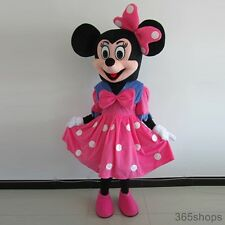 New Style Pink Minnie Mouse Mascot Costume Adult Party Clothing Suit