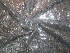 """2 yards 22"""" mesh fabric with all over sequin decoration"""