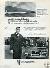 1973 Print Ad of Ohio Edison The Illuminating Company Warren Molded Plastics